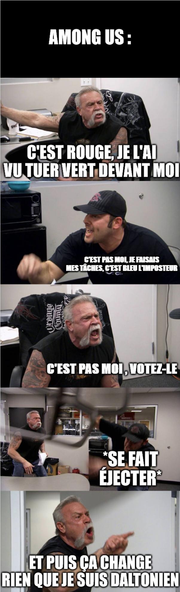 Among us (eh oui, encore) - meme