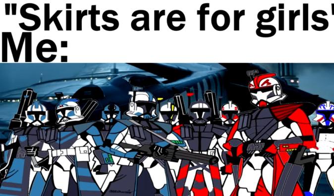 All the best clones wear Kamas - meme