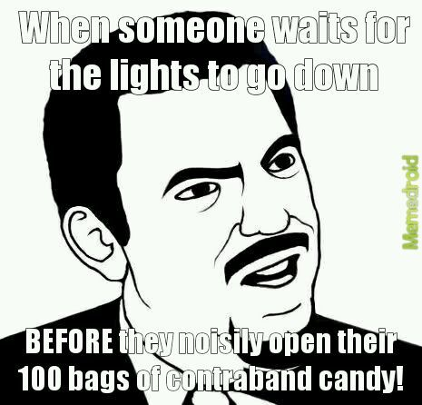 Movie theater problems - meme