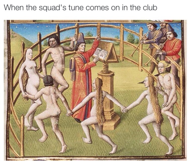 Better dance or the paddle comes out - meme