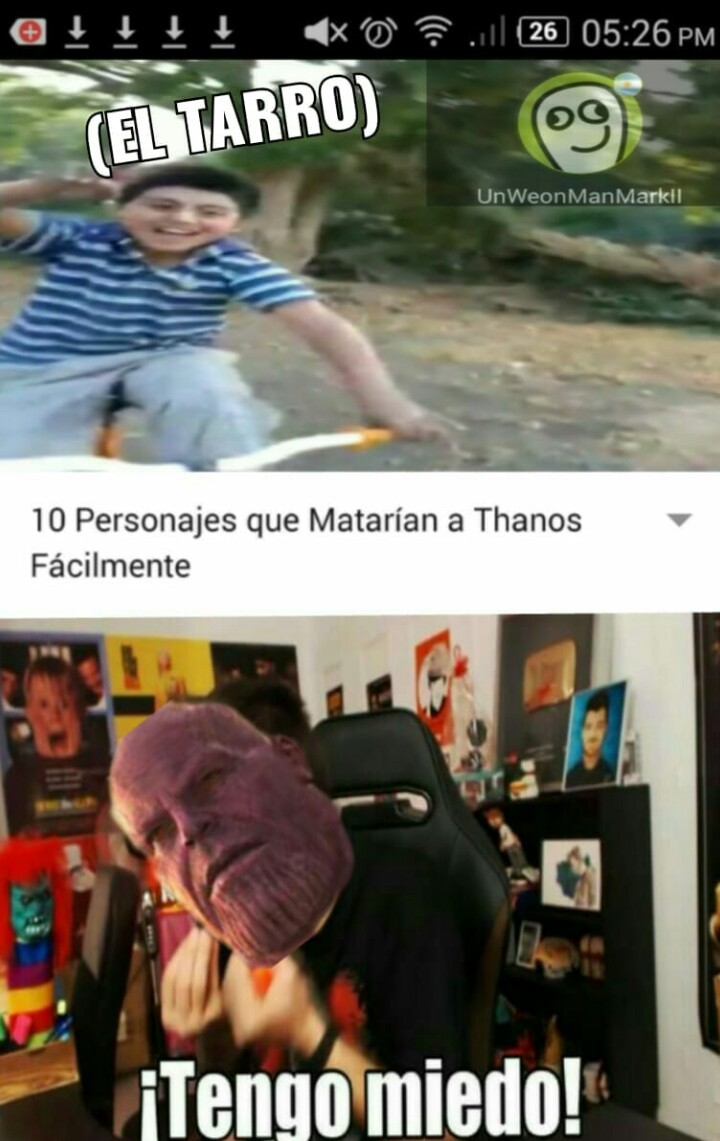 Avengers the war of tarro - meme