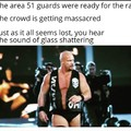 From the guard posts with a steel chair