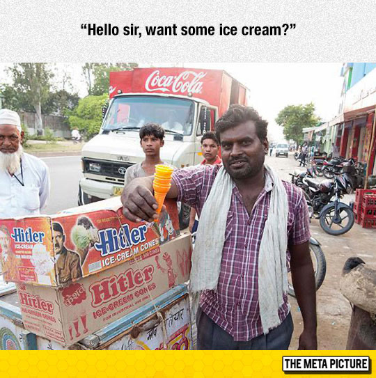 Ice cream is really refreshing in hot weather - meme