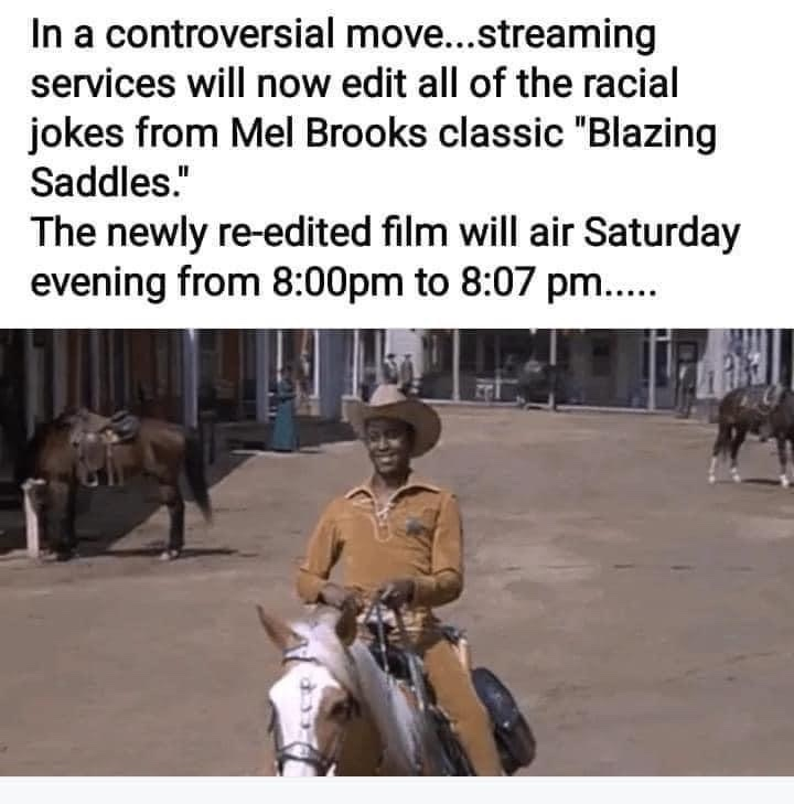 blazing saddles - meme
