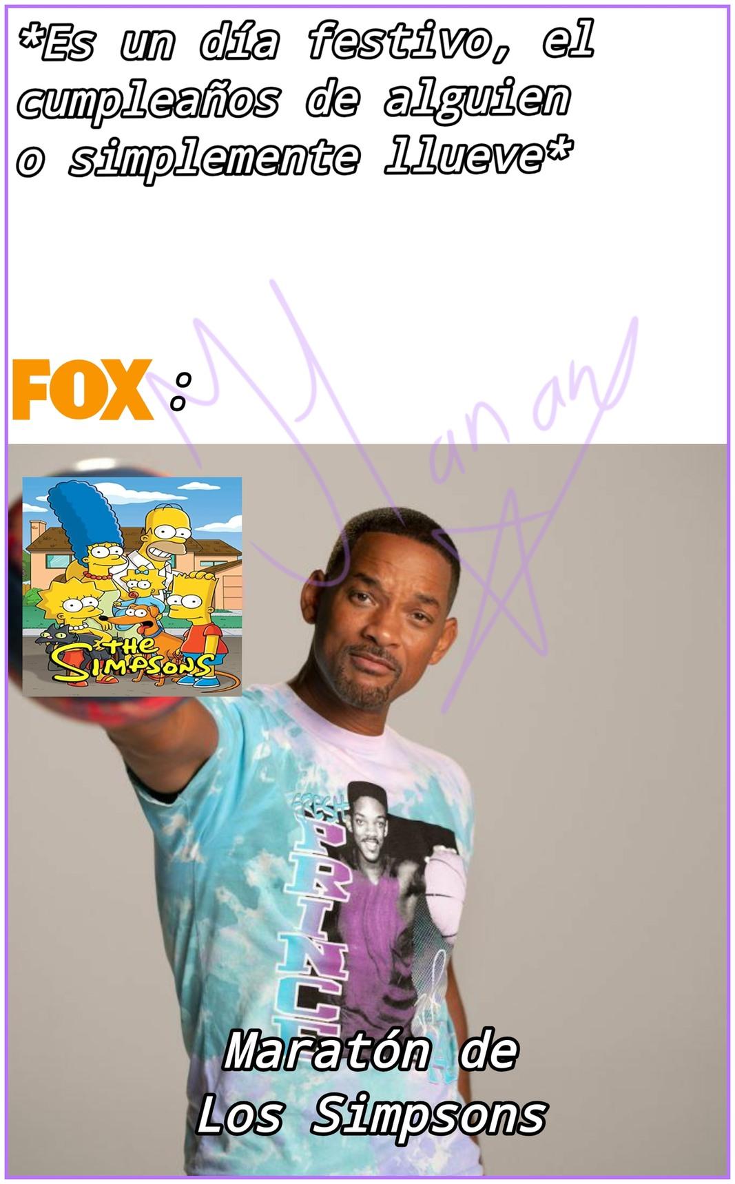 Maratón de Los Simpsons - meme