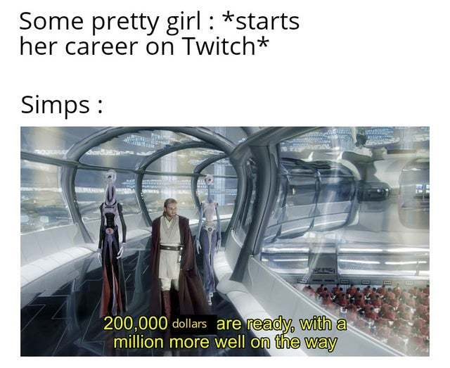 Time of simps on Twitch - meme