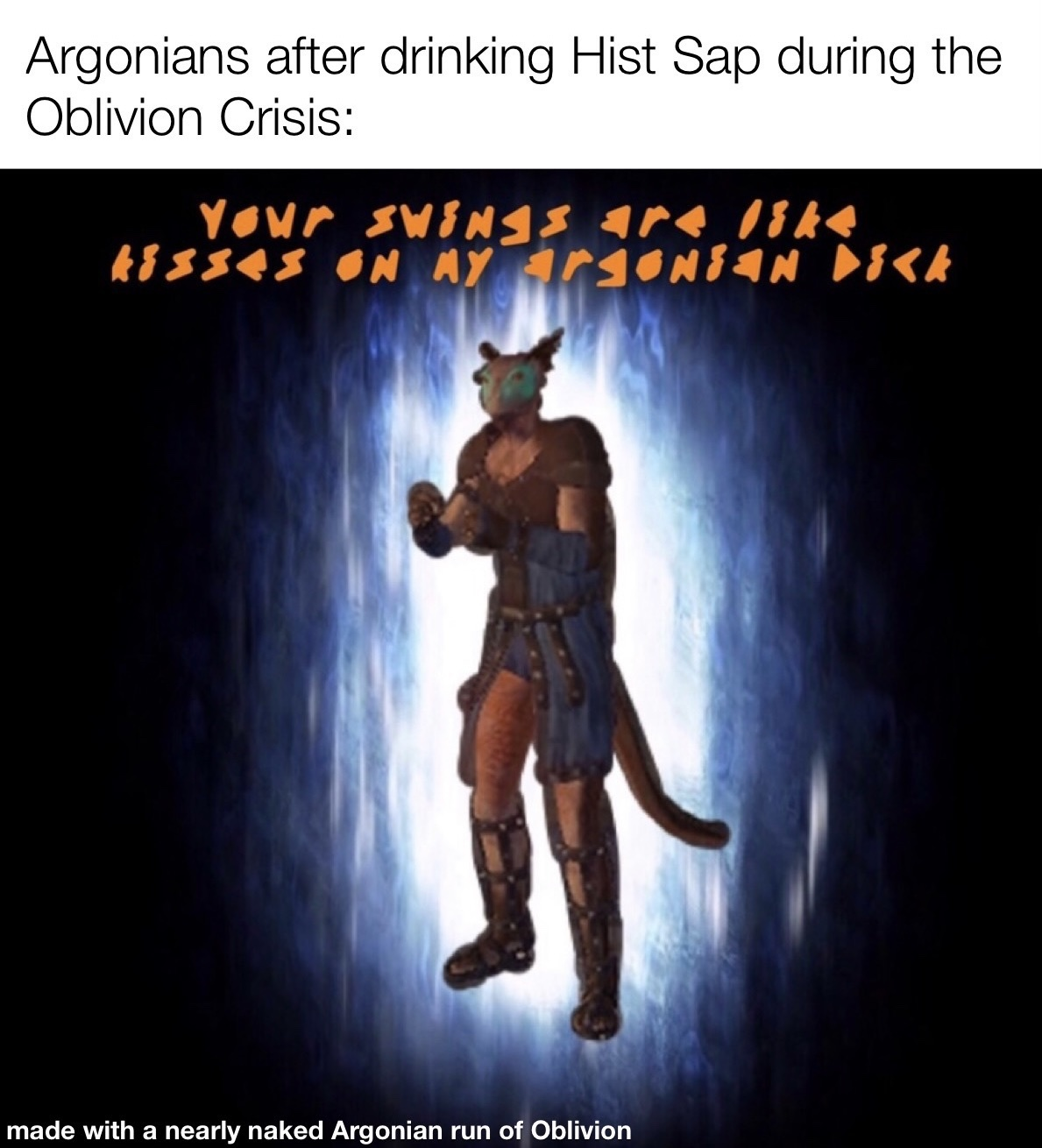 I may be exaggerating the events of Oblivion in Black March - meme