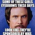 nike eyebrows