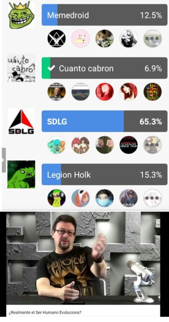 Hasta legión Holk tiene más votos - meme