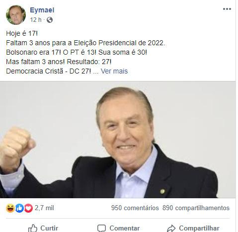 Ey, Ey, Eymael. Um democrata cristão. - meme