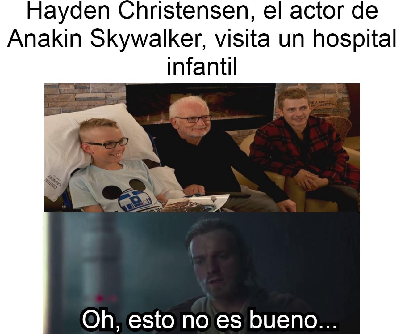 Contexto: En el episodio 3 de Star Wars, Anakins se vuelve Vader y asesina niños... Ya podrán imaginar que sigue después. - meme