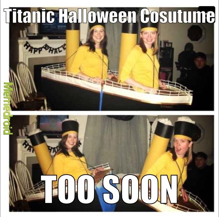 Titanic Halloween Costume - meme