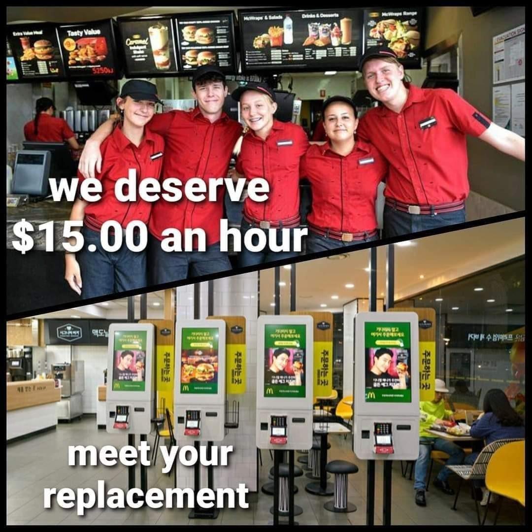 15$ minimum wage reality - meme