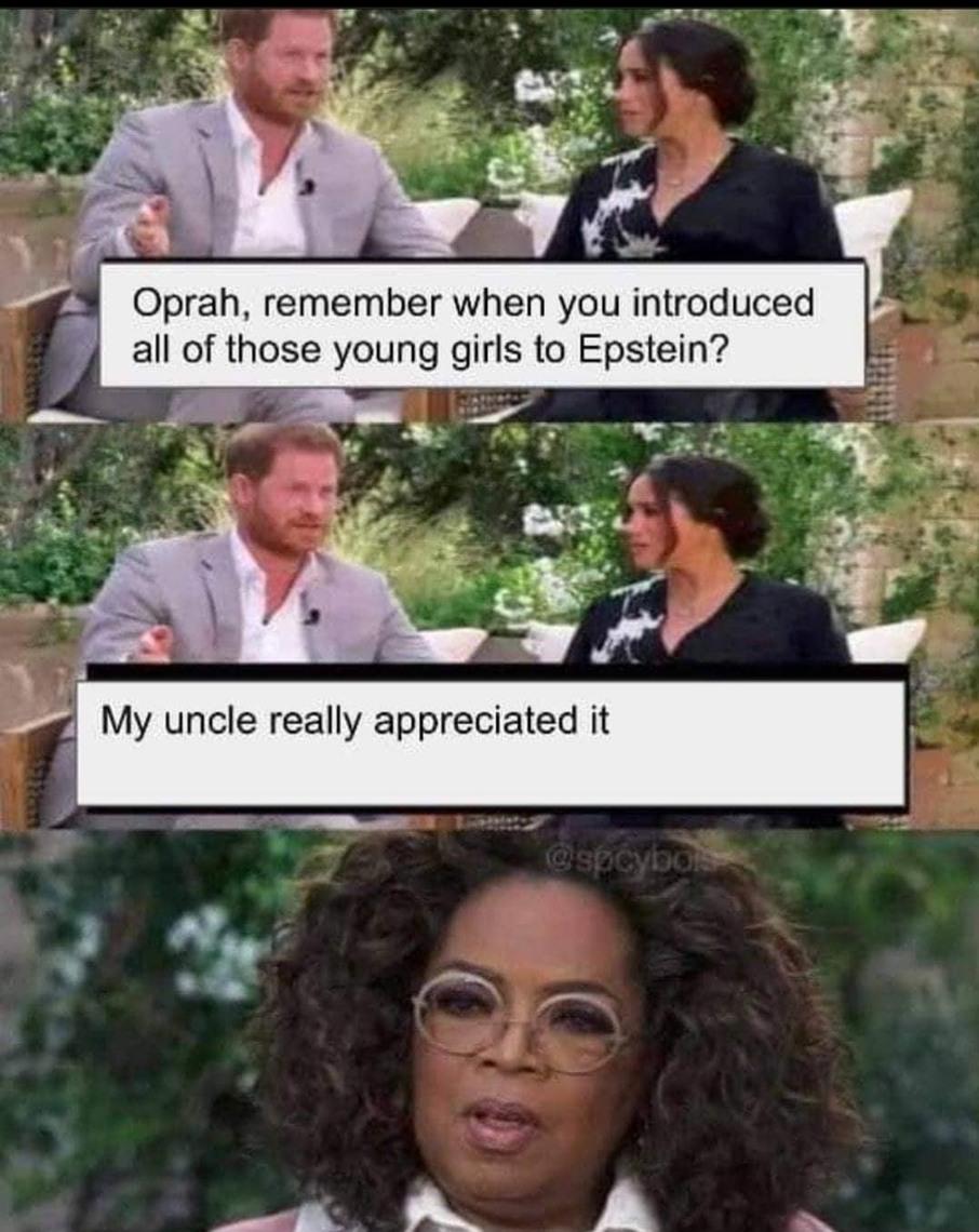 Oprah killed epstein - meme
