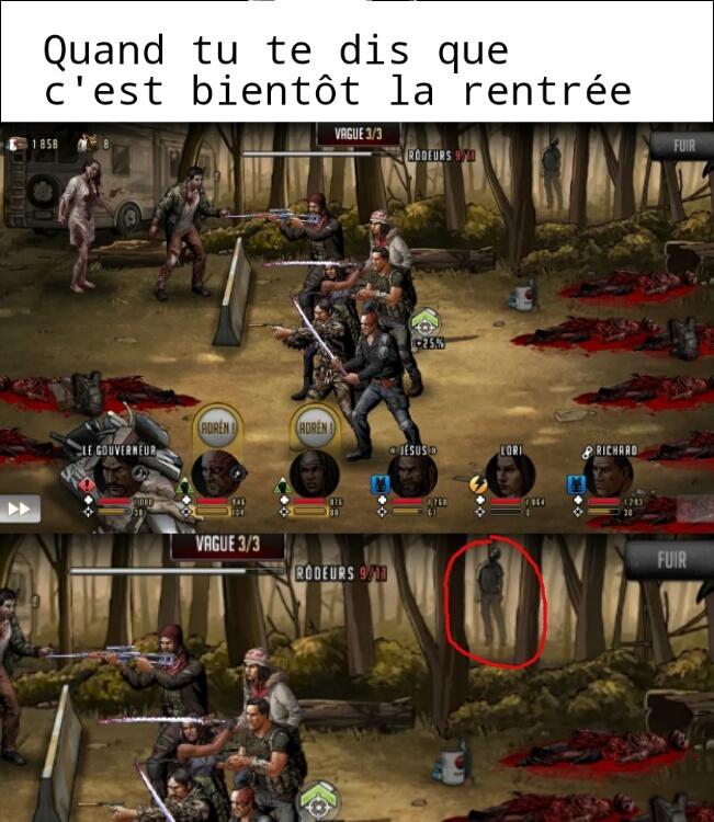 TWD: Road tout Survival (le jeu) - meme