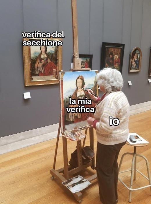 La verifica - meme
