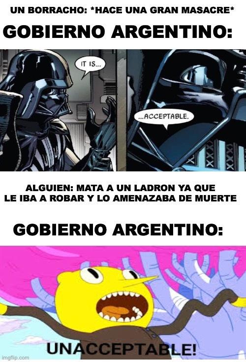 """El gobierno Argentino siempre acepta esas cosas porque """"esta borracho"""" :facepalm: Pd: tengo muchas ideas con este combo de plantillas :D - meme"""