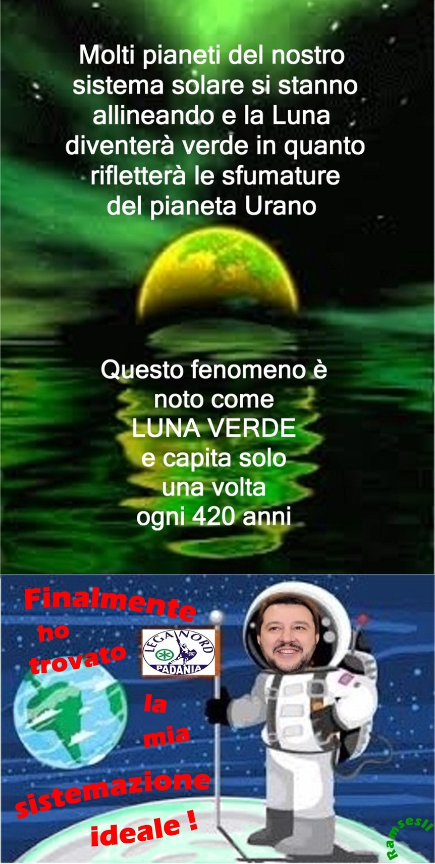 Green Moon - meme