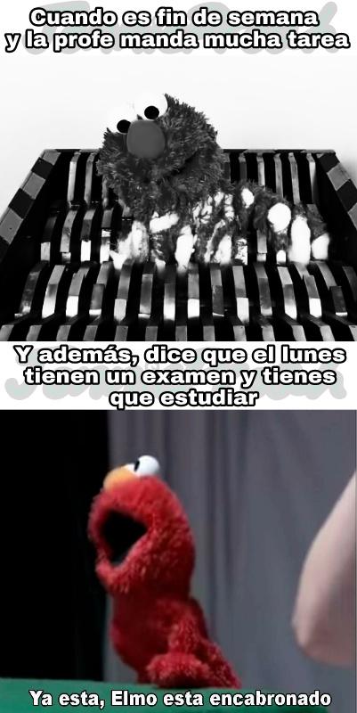 Ya esta, Elmo esta encabronado >:( - meme