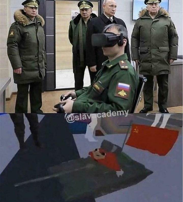 Pq o Putin sempre sai com a mesma cara nas fotos? - meme