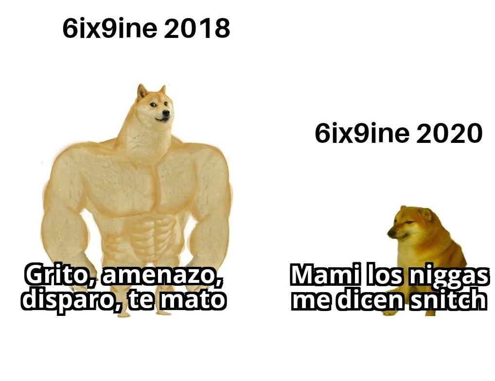 6ix9ine evolution - meme