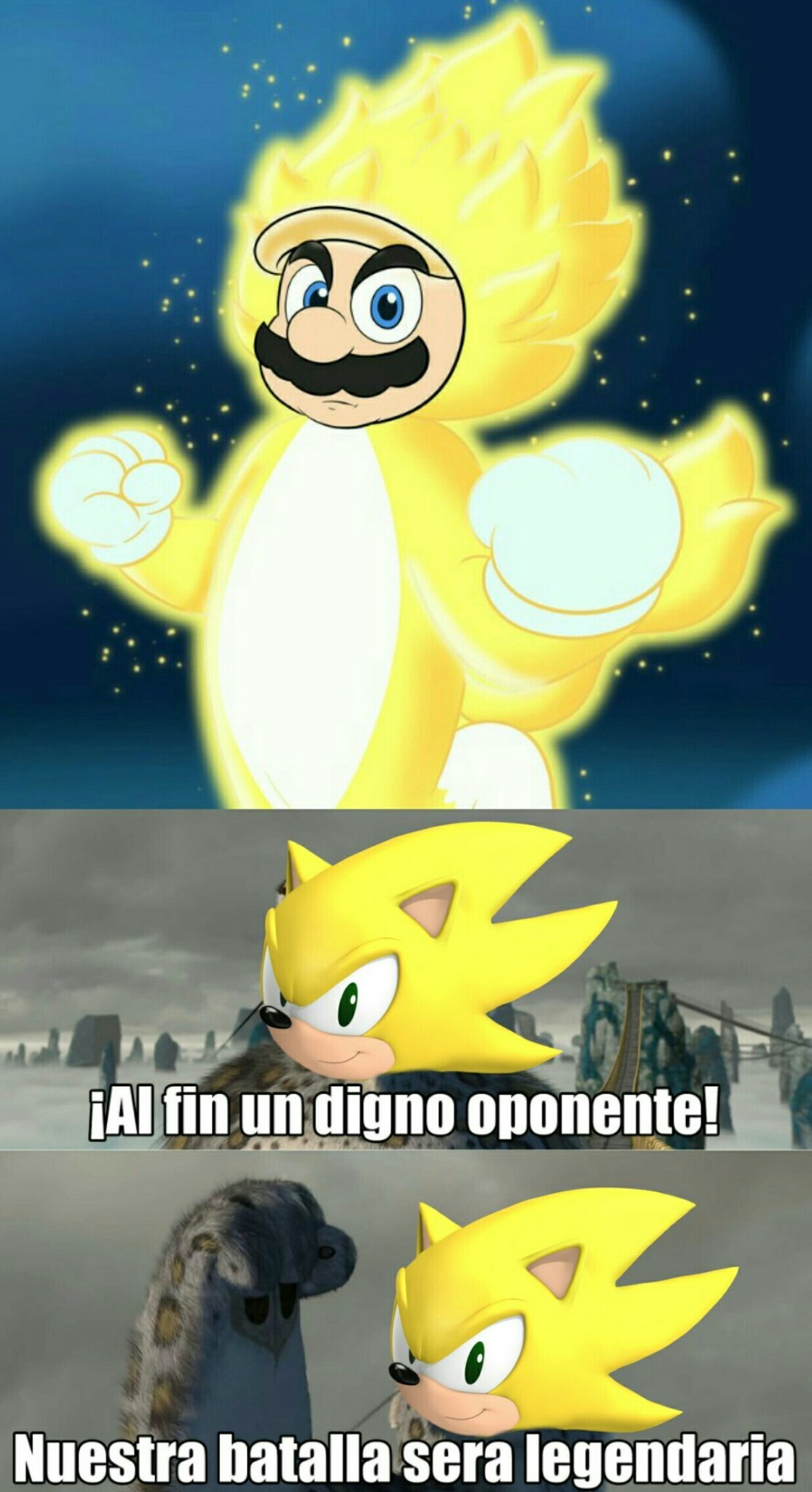 Super sayan cat mario - meme