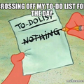 Crossing off my to-do list