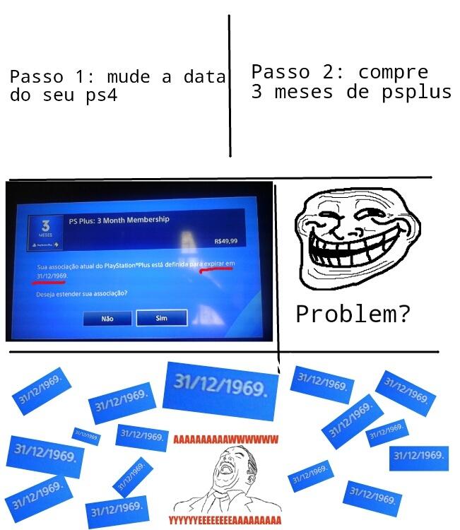 Como ter PSN free - meme