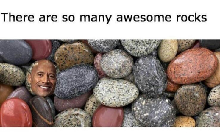 Lol rocks... You get it? - meme