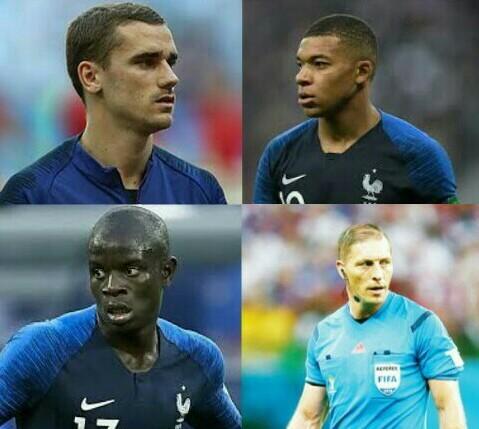 Aqueles jogadores f**as da França - meme