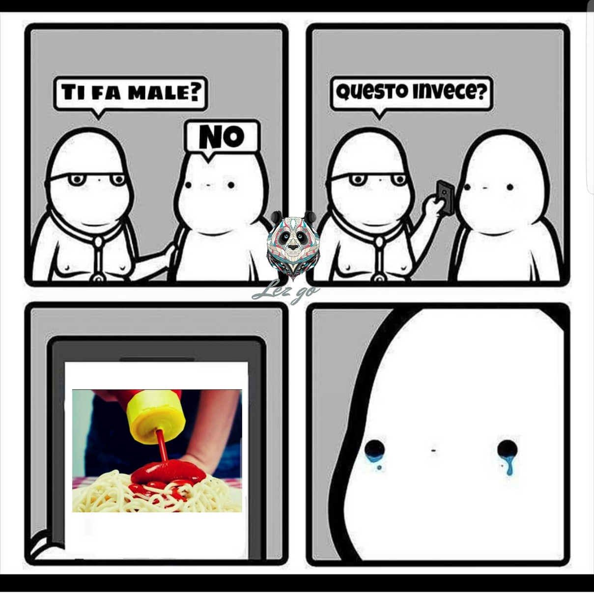 Pasta spaghetti mandolino - meme