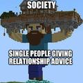 Single people giving relationship advice