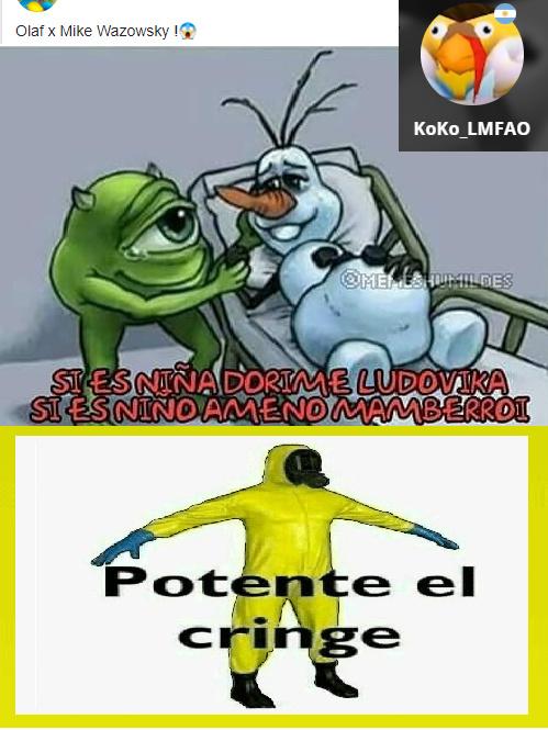 POTENTE EL CRINGE - meme