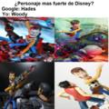 Personaje mas fuerte de Disney