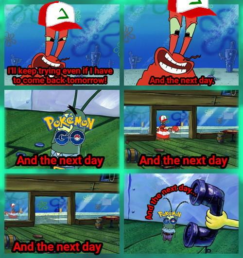 Those obsessed Pokémon Go players be like... - meme