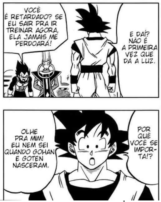Goku foi comprar  cigarros - meme