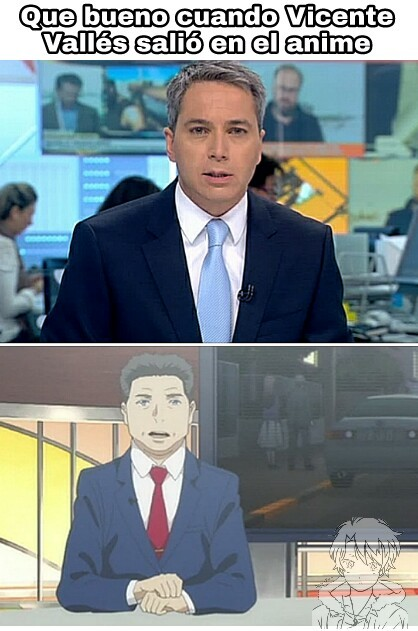 Vicente Vallés presentador de antena 3 - meme