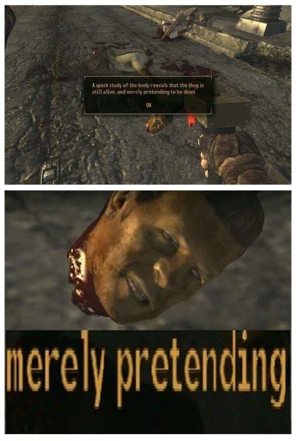 Play dead - meme