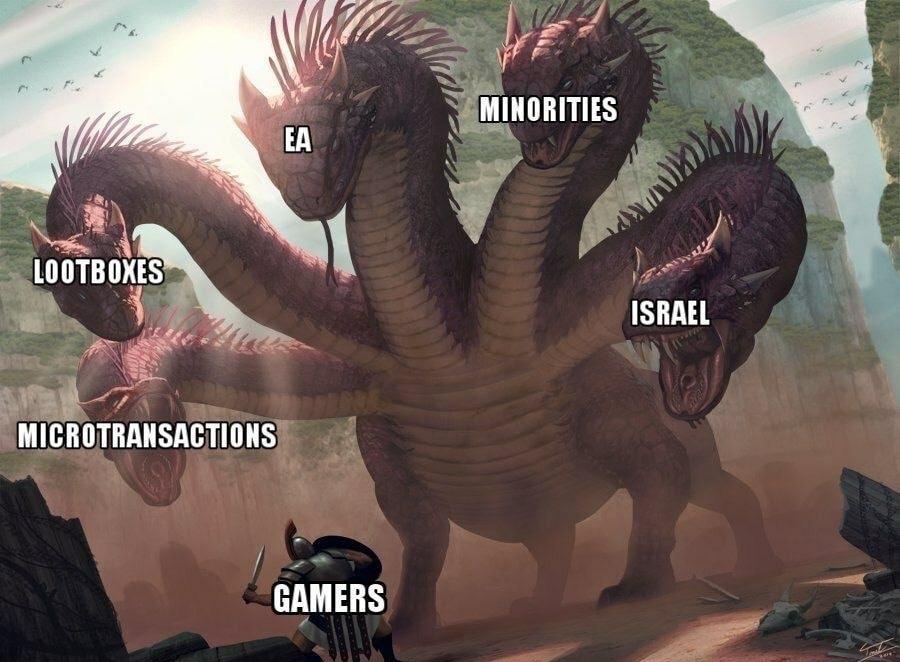 I hate minorities - meme