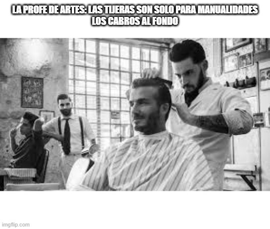 los cabros peluqueros - meme