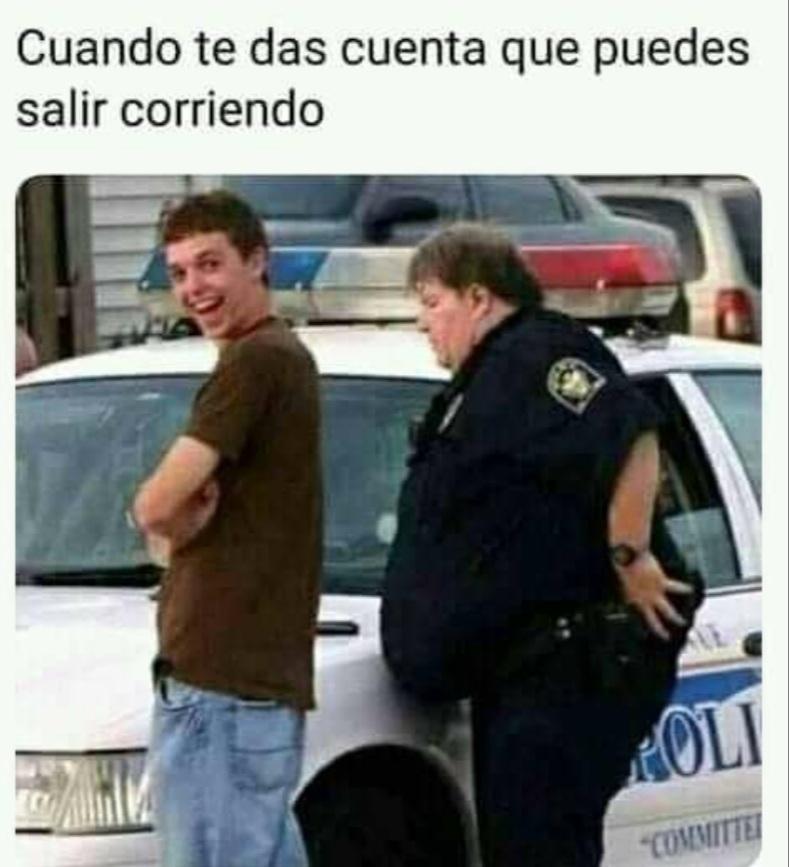 Wtf ibai policía  - meme