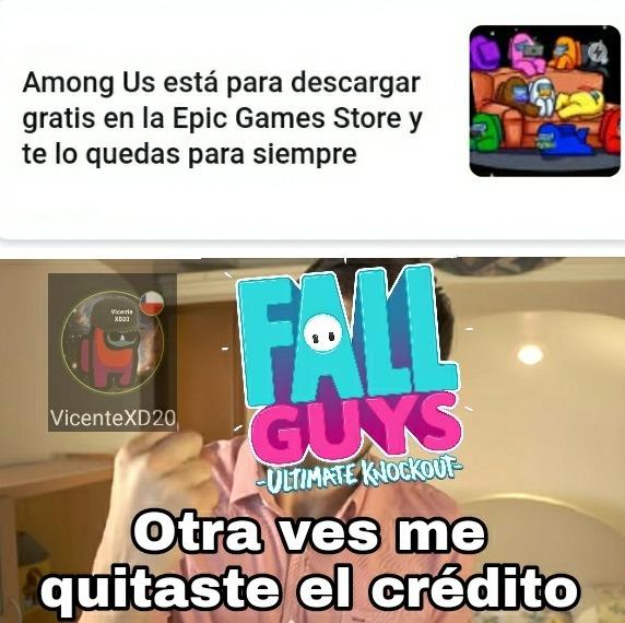 Among US gratis en Epic Games Store - meme