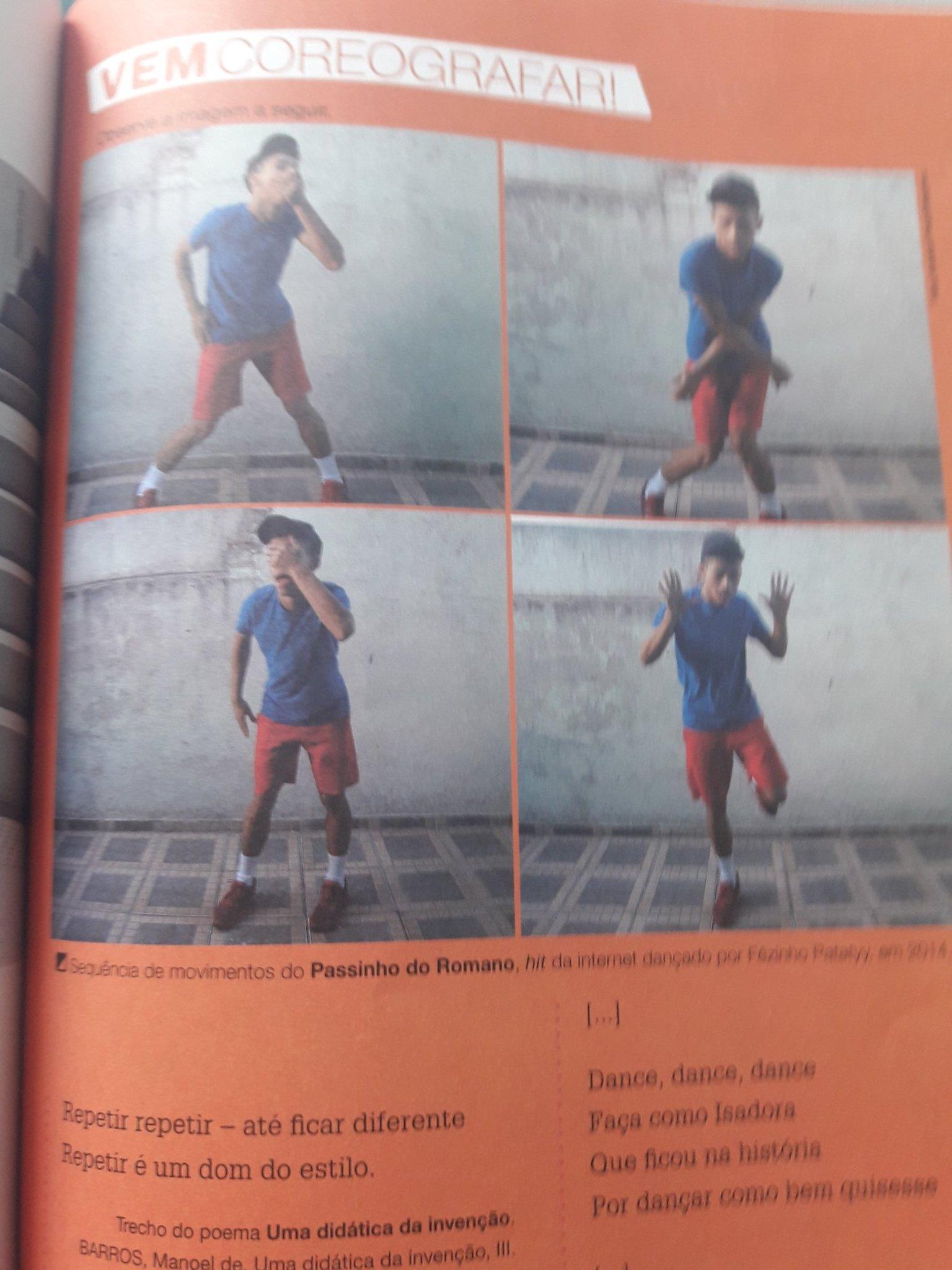 Passinho do romano no livro de artes - meme