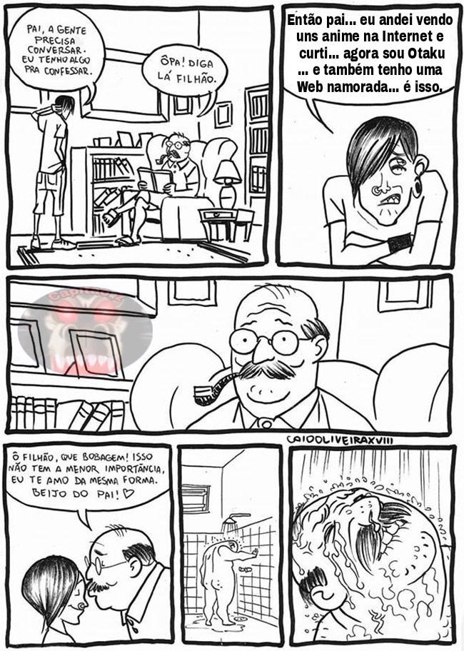 Sofrimento de um pai de família - meme