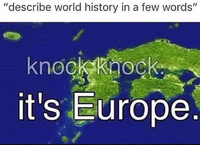 World history in a few words - meme