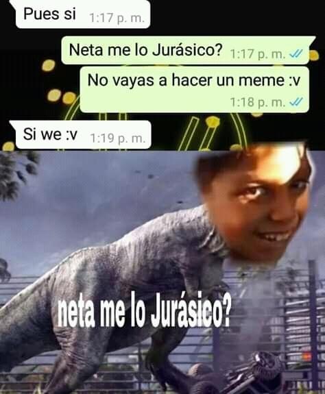Me lo Jurassico? - meme