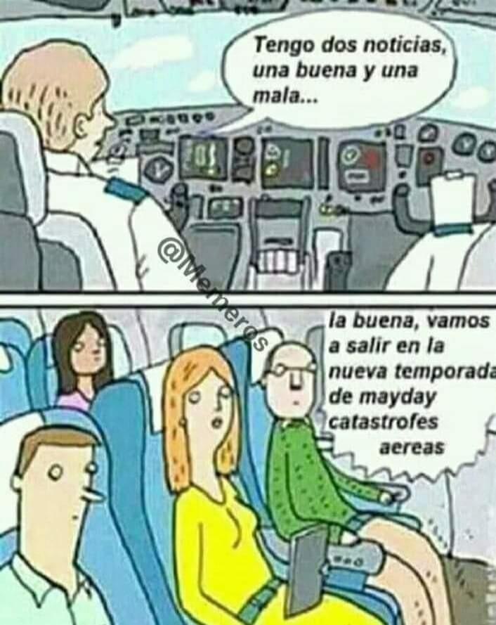 Mayday catástrofes aereas - meme