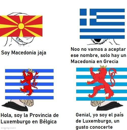 Virgin Balcanes / Chad cualquier otro lugar de Europa - meme