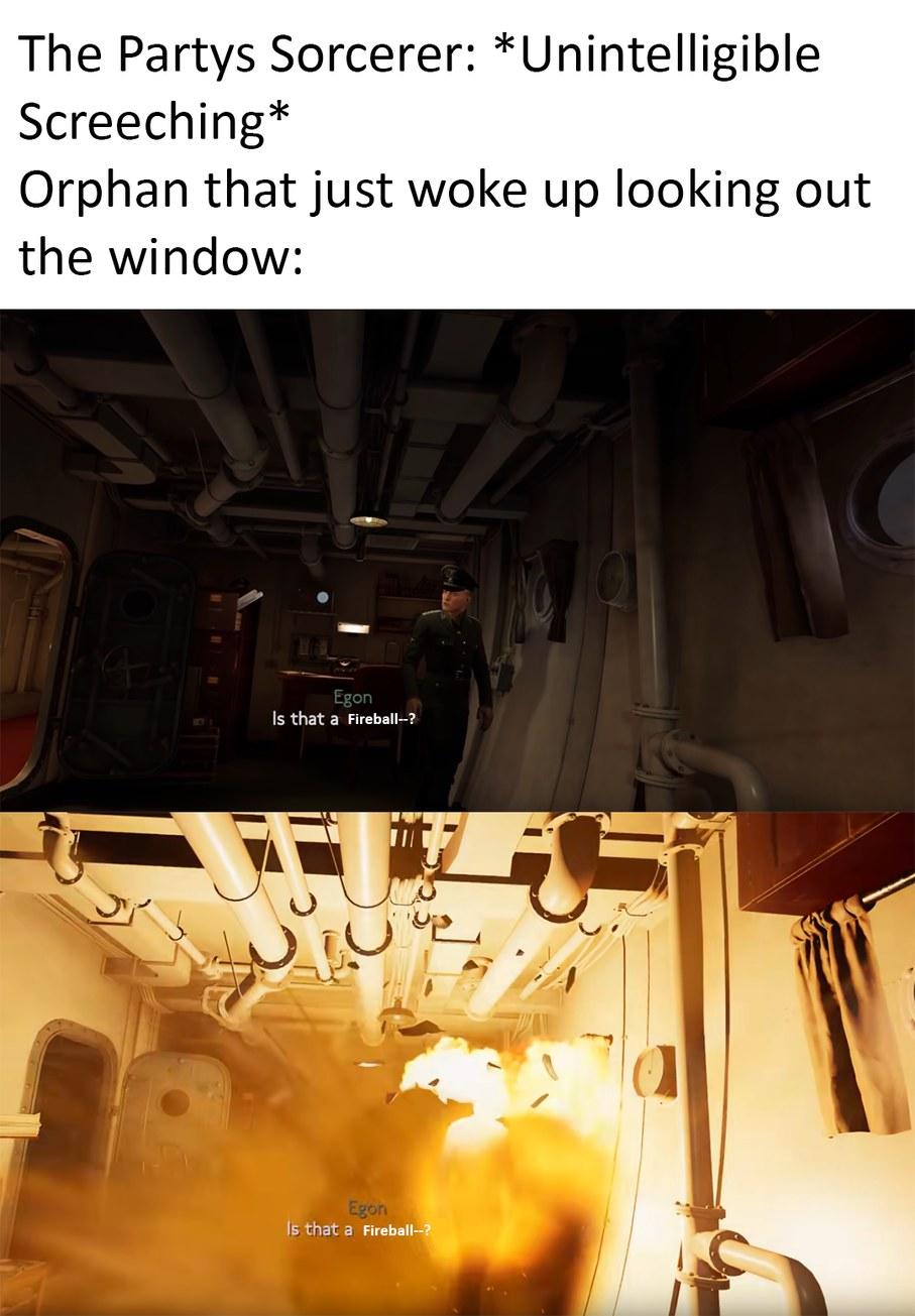 Title got killed by a fireball - meme