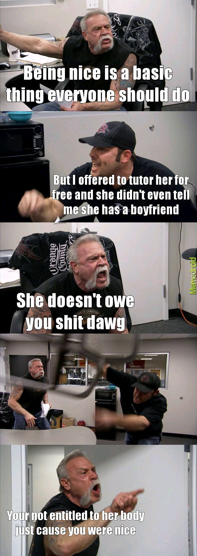 Nice guys are a different breed - meme